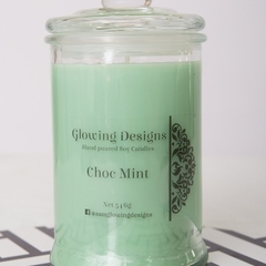 Choc Mint scented soy wax candle - Medium - Handmade in Australia