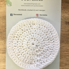 Face Scrubbies-reusable & washable - White