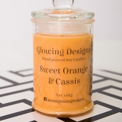 Sweet Orange & Cassis scented soy wax candles - Small- Handmade in Australia