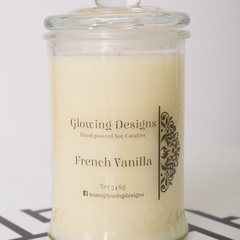 French Vanilla scented soy wax candle - Large - Handmade in Australia