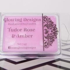 Tudor Rose & Amber scented soy wax melts - Handmade in Australia