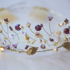 Charlotte Gold Beaded Tiara