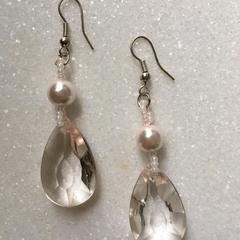 Estee Pink Pearl Teardrop Earrings