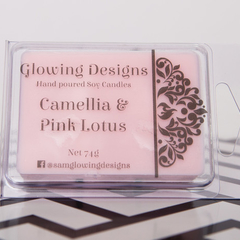 Camellia & Pink Lotus scented soy wax melt/tart - Handmade in Australia