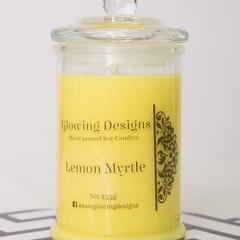 Lemon Myrtle scented soy wax candles - Medium - Handmade in Australia
