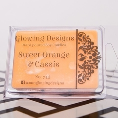 Sweet Orange & Cassis scented soy wax melt - handmade in Australia
