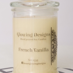 French Vanilla scented soy wax candle - Small - Handmade in Australia