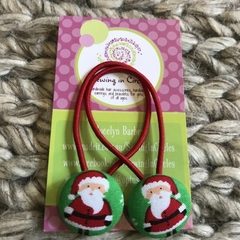 Red Santa hair ties