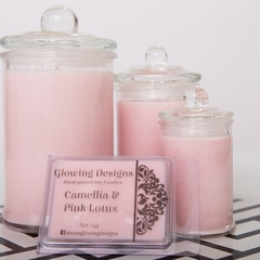 Camellia & Pink Lotus scented soy wax candle - Large - Handmade in Australia