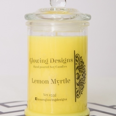 Lemon Myrtle scented soy wax candles - Large - Handmade in Australia