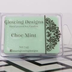 Choc Mint scented soy wax melt/tart - Handmade in Australia