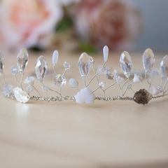 Clear Crystal Beaded Tiara