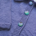 Little Cardigan - Hand knitted - Size 1 - Pure Merino