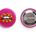 Set of 4 Retro inspired badges/pins