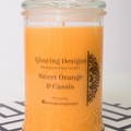 Sweet Orange & Cassis scented soy wax candles - Medium - Handmade in Australia