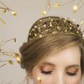 Charlotte Gold Beaded Tiara