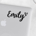 Personalised Name with Love Heart Laptop Sticker Name Decal