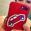 Red VW Beetle sticker
