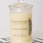 French Vanilla scented soy wax candle - Medium - Handmade in Australia