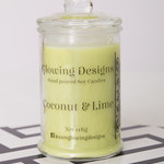 Coconut & Lime scented soy wax candle - Small - Handmade in Australia