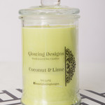 Coconut & Lime scented soy wax candle - Large - Handmade in Australia