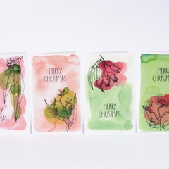 Christmas Cards - Set of 12 - 4 Designs - Australian Eucalyptus Range