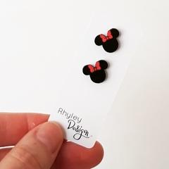 Minnie Wooden Earring Stud