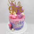 Baby shower cake topper - girl or boy - glitter card stock