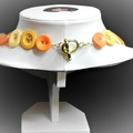 Yellow and orange button necklace - Oranges and Lemons