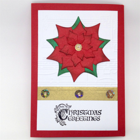 Christmas Card - Luxury, Large Poinsettia