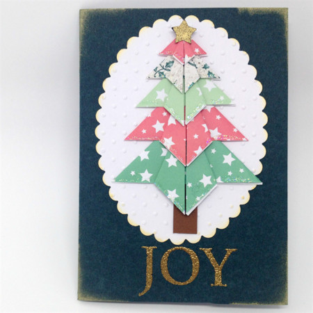 Christmas Card - Origami Christmas Tree