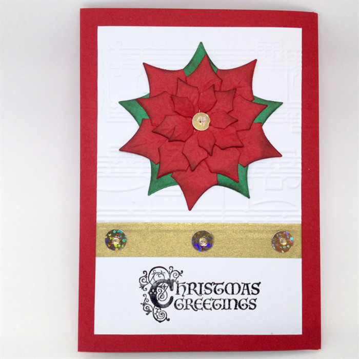 Christmas Card - Luxury, Large Poinsettia | Cards Made by Karen ...