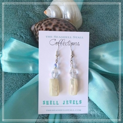 """Shell & Crystal Earrings - """"Shell Jewels"""" Collection"""