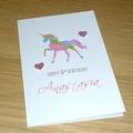 Personalised Rainbow Unicorn Birthday card