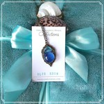 """Blue Glass Necklace -  """"Blue Moon"""" Collection"""