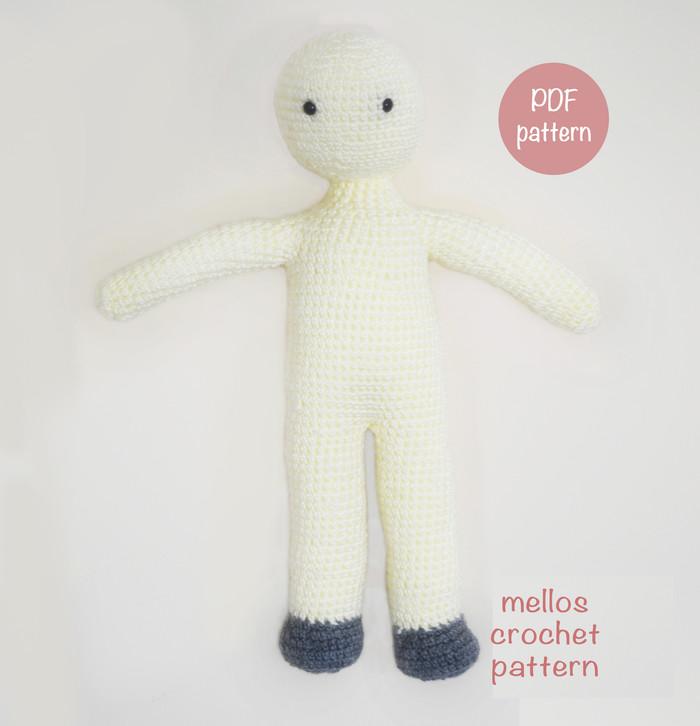 Doll body crochet pattern   726x700
