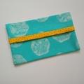 Tissue Holder - Sand Dollar - Beach - Aqua - Bag Accessory - Practical Gift