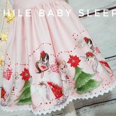 Pink Angel Fairy Unicorn Christmas Pinafore - SIZE 6