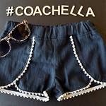 Wrap Shorts with Mini Pompom - Light Grey - Size 6