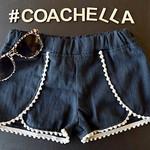 Wrap Shorts with Mini Pompom - Light Grey - Size 12