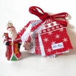 Scandi Christmas Garland, Houses, Ready to Ship, Free Domestic Shipping