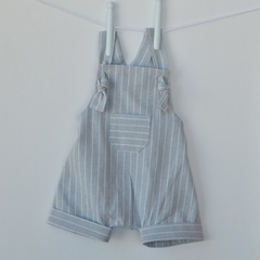 Linen harem romper, babies and toddlers sizes, light blue romper