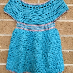 Crochet dress - suitable for 12 months