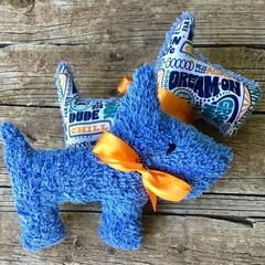 Bert the Upcycled  Vintage Chenille Scotty Dog