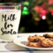 Christmas Santa Glass Decal | Large Name Sticker | Water Bottle Decal