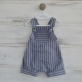 Navy blue linen romper, boys rompers, babies and toddlers, summer overalls