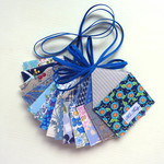 Blue Houses Garland, Ready to Ship, Free Domestic Shipping