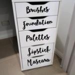 Make up organiser Decal Sticker