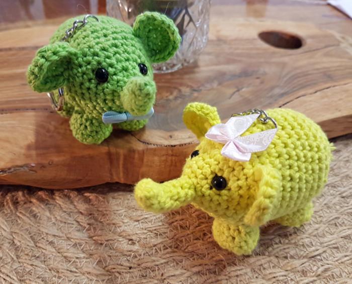 Crochet Dolls - Elephant's Keychain – PATTRASHOME | 566x700