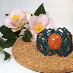 Jasper macramé bracelet